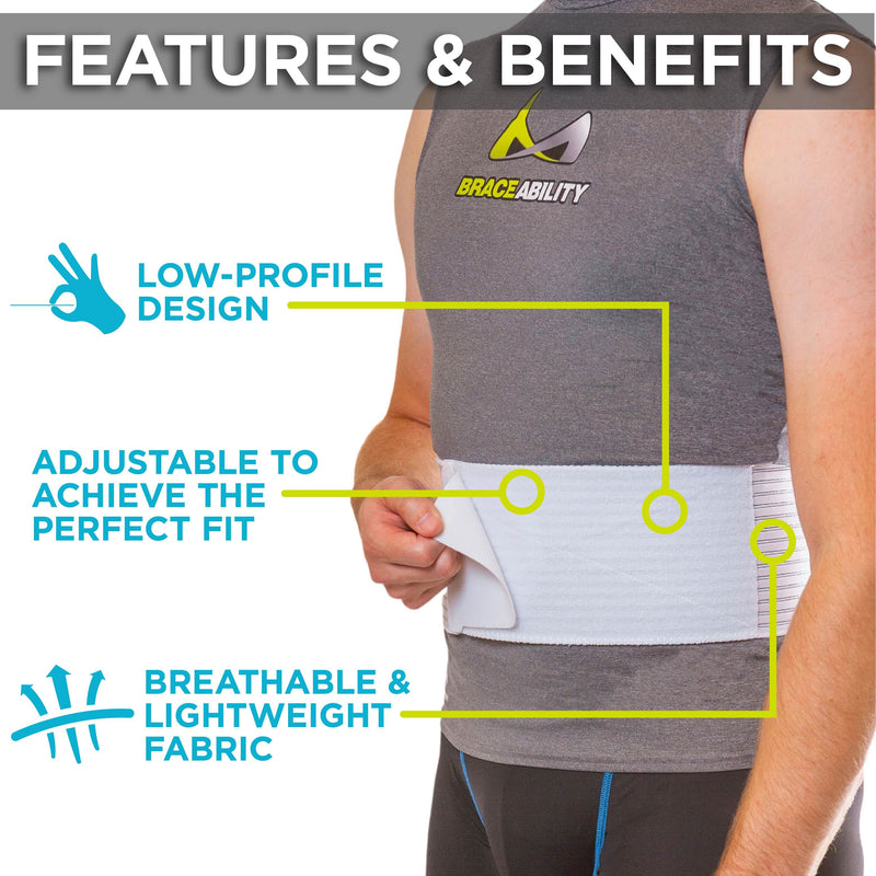the lightweight hernia truss by braceability is low-profile so it can be worn under clothes