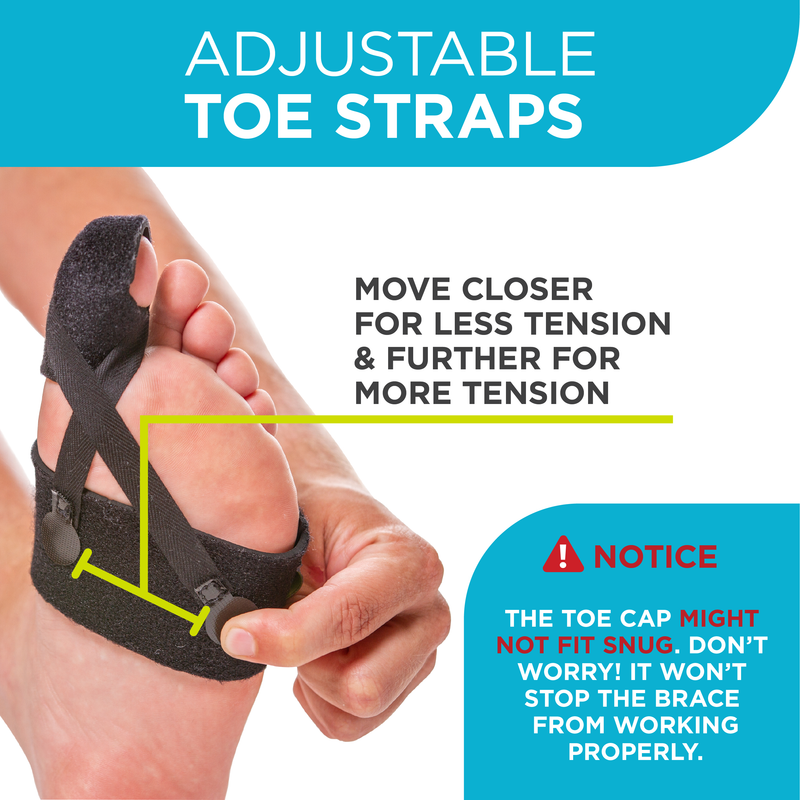 Adjustable turf toe straps allow for more or less tension on toe
