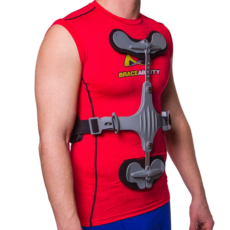 This CASH back brace controls thoracic flexion and promotes good spinal alignment