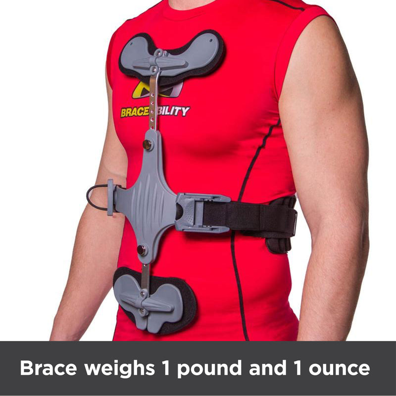 the thoracic spine brace was about 1 pound
