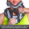 This design allows for direct adjustability and immobilization of the cervical spine.
