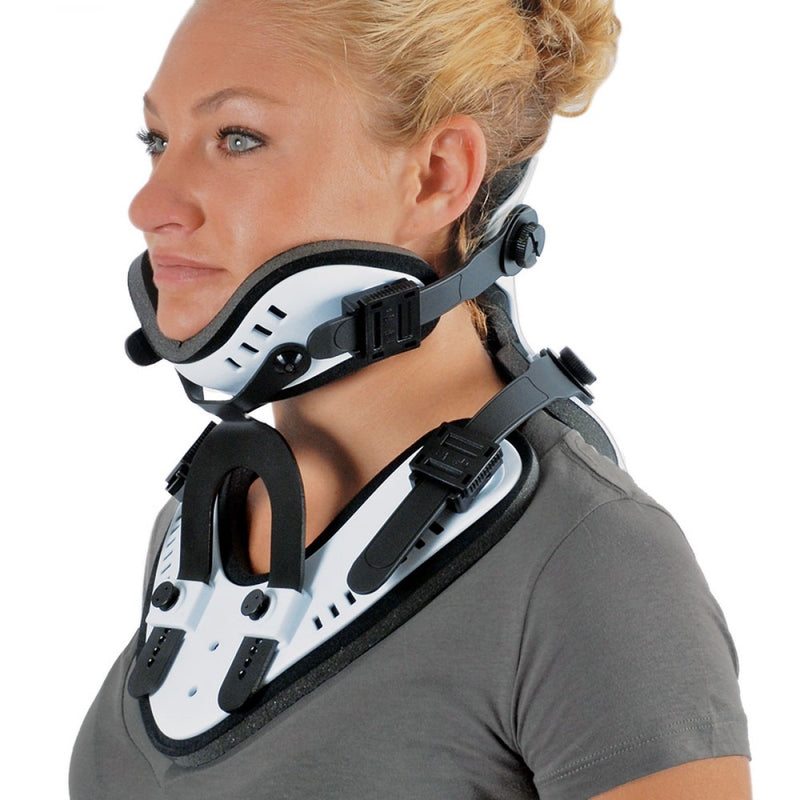 The Cervical Orthosis brace is made to help relieve neck pain and stabilize the cervical spine after surgery or trauma.