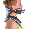 This cervical neck protector offers a unique aluminum adjustment system.