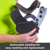 Medical-grade Velcro on the soft padding makes for a secure fit on the collar brace for stenosis and neck pain