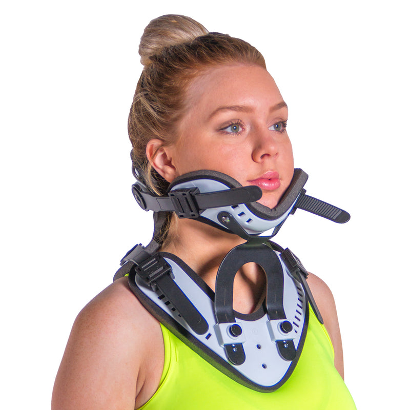This neck brace for herniated disc and spinal stenosis immobilizes and supports your neck