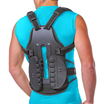 TLSO throacic full back brace posture corrector for kyphosis, scoliosis, osteoporosis & spine compression fractures