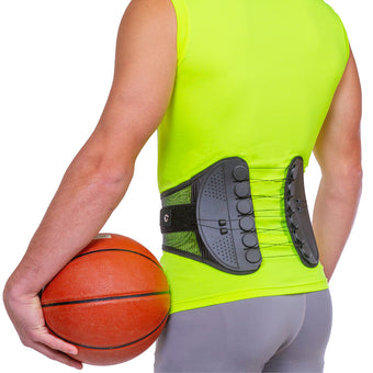Lower back support brace for runners, athletes, and active people
