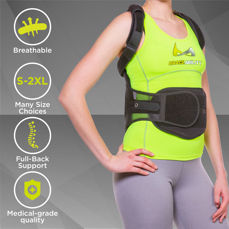 Additional extension pads allow the back straightener posture corrector to fit plus size people