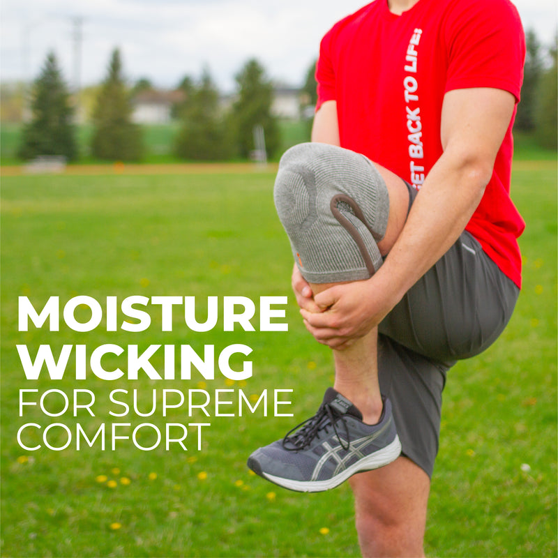 Our moisture wicking knee brace for working out provides supreme comfort