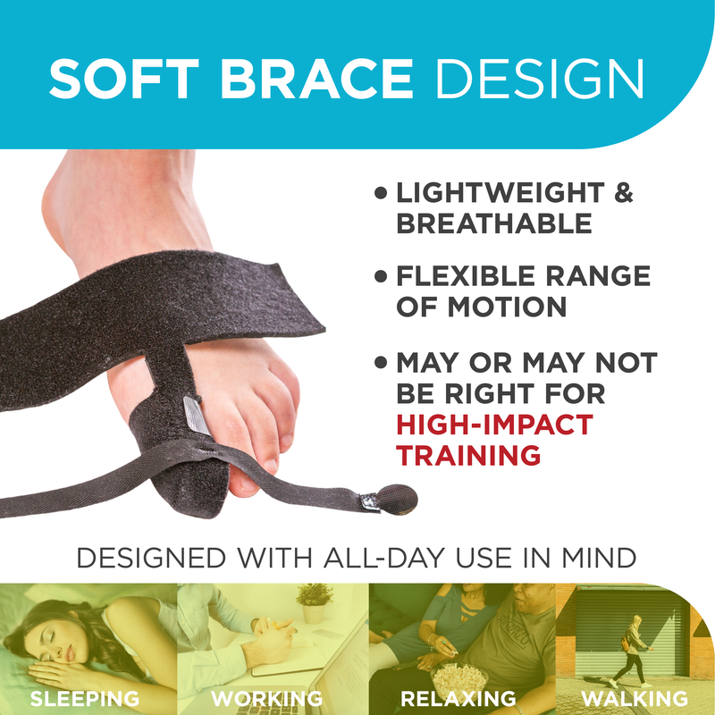the soft, black, turf toe brace design is very breathable and allows for a flexible range of motion