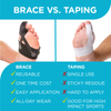 Using a turf toe brace over taping is a one time cost because the brace is reusable and can be easily taken on and off