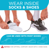 our comfortable toe wrap can be worn inside socks and shoes for all day support