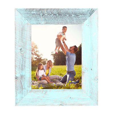 Rustic Farmhouse 3-Inch Picture Frame | Robins Egg Blue