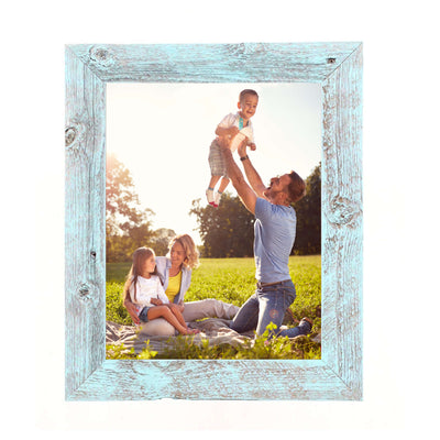 Rustic Farmhouse 1 1/2-Inch Picture Frame | Robins Egg Blue