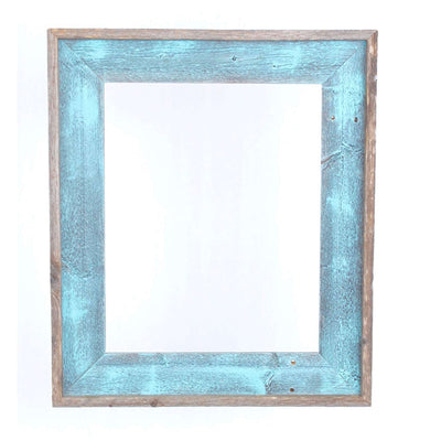 Rustic Farmhouse Open Artisan Picture Frame | Robins Egg Blue