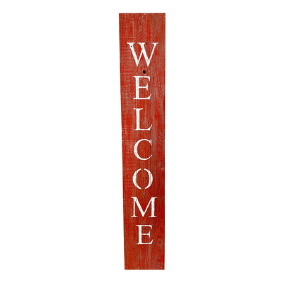 BarnwoodUSA Rustic Welcome Porch Sign | 5ft | Rustic Red