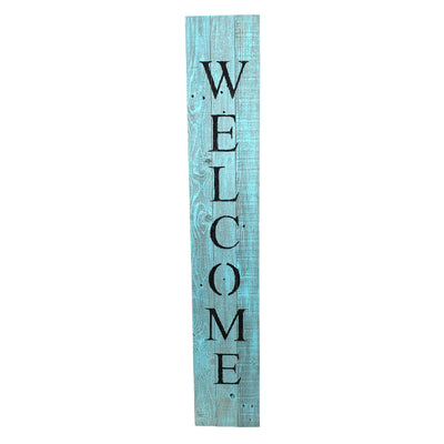 BarnwoodUSA Rustic Welcome Porch Sign | 5ft | Robins Egg Blue