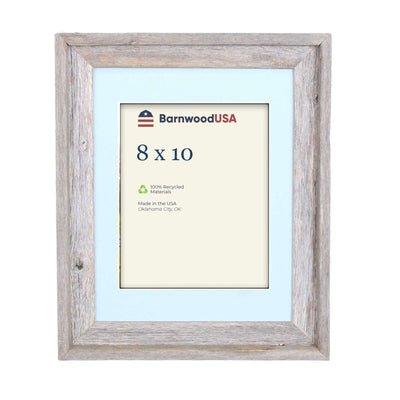 Rustic Signature Picture Frame with Fountain Blue Mat