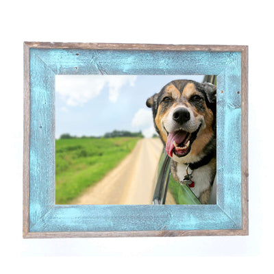 Rustic Farmhouse Artisan Picture Frame | Robins Egg Blue