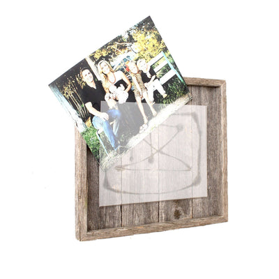 Rustic Farmhouse Plank Picture Frame | Rustic Red
