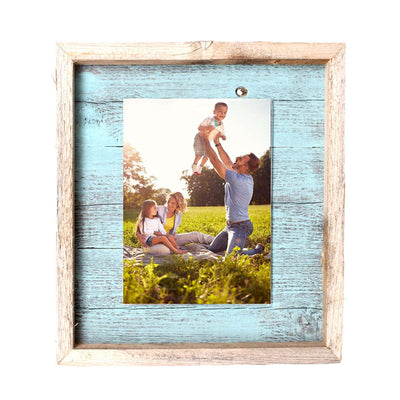 Rustic Farmhouse Plank Picture Frame | Robins Egg Blue