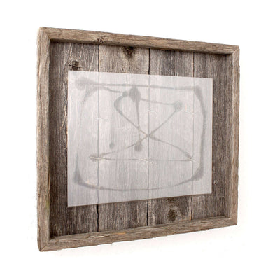 Rustic Farmhouse Plank Picture Frame | Smoky Black