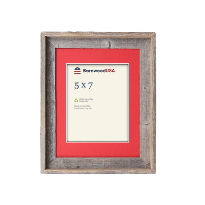 Rustic Signature Picture Frame with Deep Red Mat