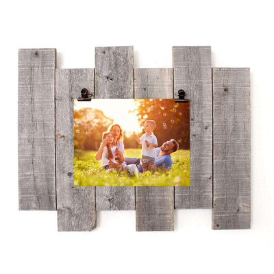 Rustic Farmhouse Staggered Photo Board with Rustic Bronze Clip | 8x10
