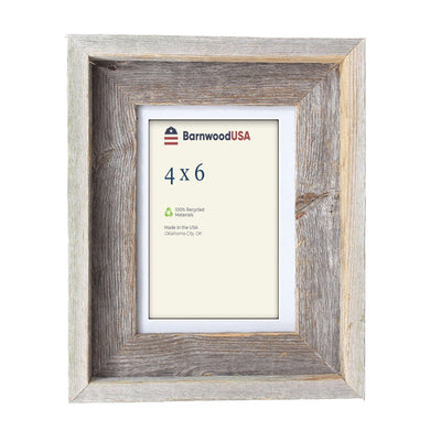Rustic Signature Picture Frame with Gray Mat