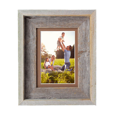 Rustic Signature Picture Frame with Aged Oak Mat