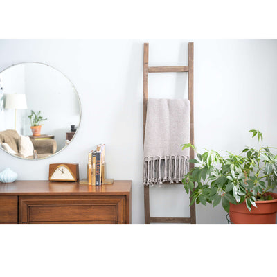 "Rustic Farmhouse Decorative Ladder | 2.5"" Deep Ladder 