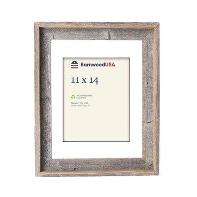 Rustic Signature Picture Frame with White Mat