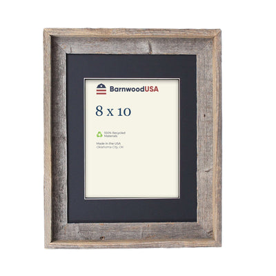 Rustic Signature Picture Frame with Black Mat