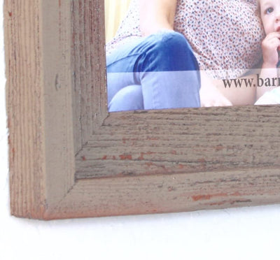 Faux Rustic Signature Picture Frame, Rustic Red Close Look