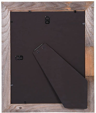 BarnwoodUSA Rustic 10 by 10 Inch Picture Frame Back View