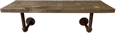 BarnwoodUSA Rustic Wood Plank Shelf farmhouse living room