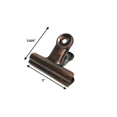 3-inch Rustic Bronze Metal Hinge Clip (Single)