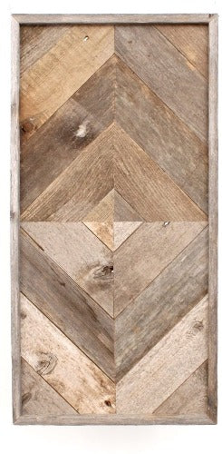 Rustic Chevron Arrow Wall Art 10 Piece Framed