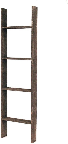 BarnwoodUSA Rustic Farmhouse Blanket Ladder - Our 4 ft Ladder is crafted from 100% Recycled and Reclaimed Wood No Assembly Required Color Brown