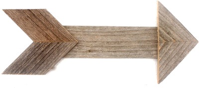 BarnwoodUSA Wood Arrow Wall Decor (Set of 3) 100% Up-cycled Reclaimed Wood (Weathered Gray)