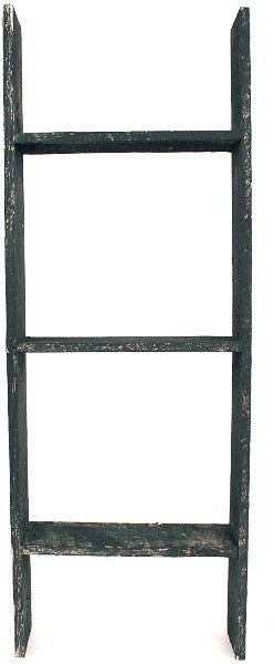 BarnwoodUSA Rustic Farmhouse Blanket Ladder - Our 3 ft Ladder crafted from 100% Recycled and Reclaimed Wood No Assembly Required Black