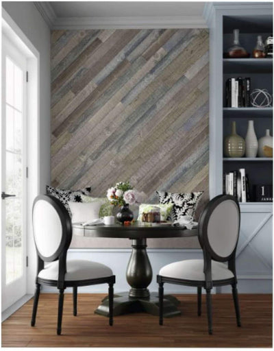Rustic Faux Wood Planks Styling Ideas