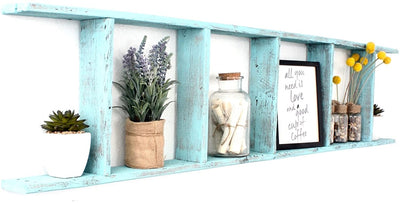 Recycled wood ladder wall decorative item