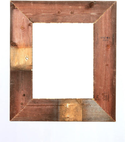 BarnwoodUSA Rustic Farmhouse Style Open Wide Frame 3 Inch (No Glass, or Backing)