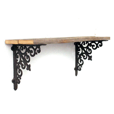 Rustic Victorian Wood Plank Shelf