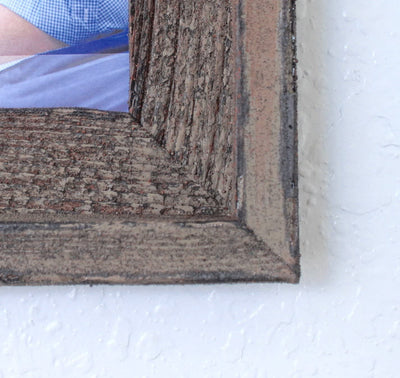 Faux Rustic Signature Picture Frame, Weathered Bin Close Look