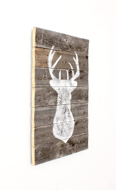 BarnwoodUSA Farmhouse Deer Plaque room decoration