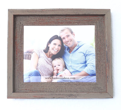 Faux Rustic Signature Picture Frame Rustic Red