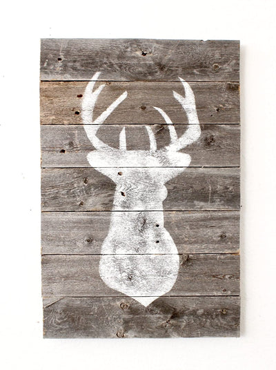 BarnwoodUSA Deer Plaque Art farmhouse decor
