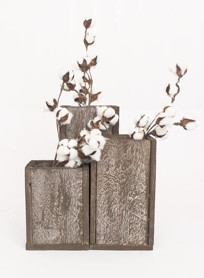 BarnwoodUSA Rustic Barnwood Planter Vase Decorative Idea